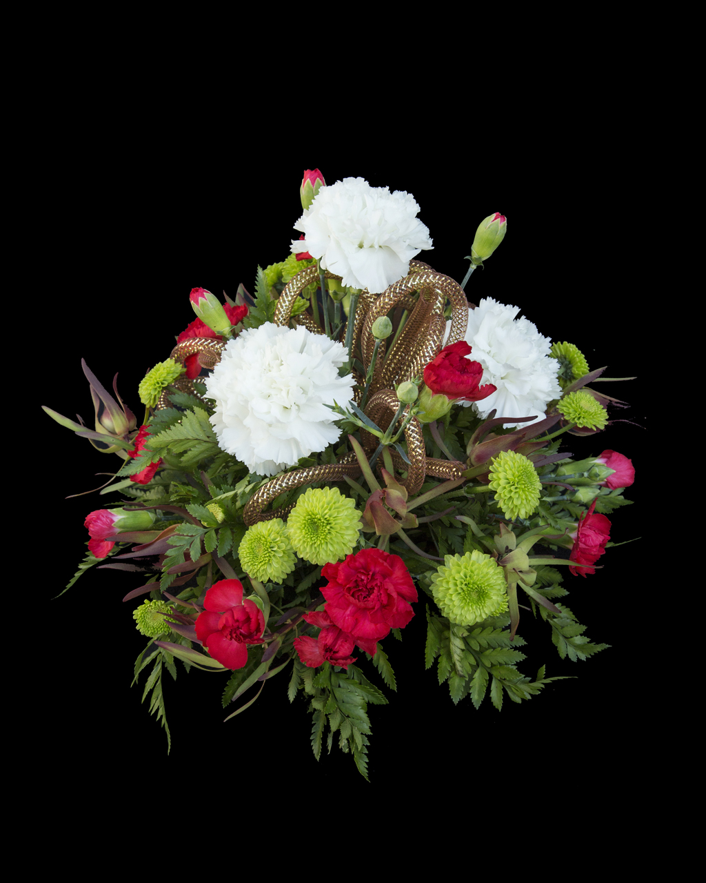 Traditional Christmas arrangement - Flowers On Bank